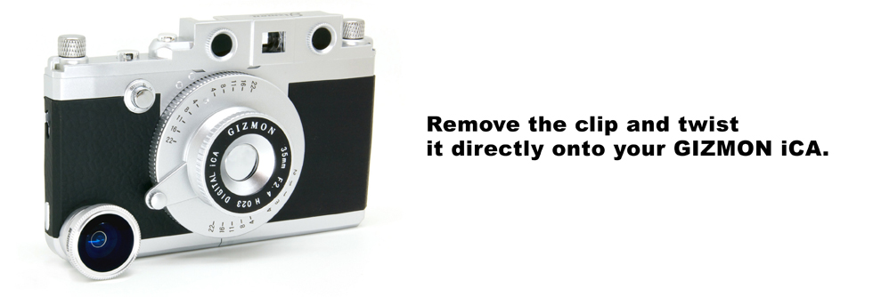 Remove the clip and twist it directly onto your GIZMON iCA.