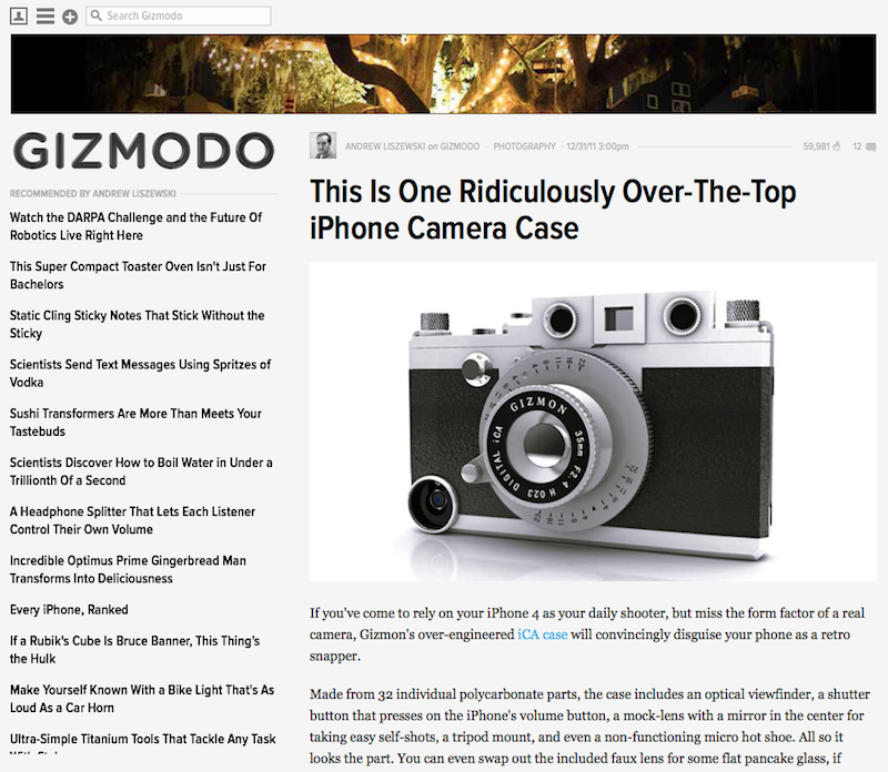 """GIZMODO"" did a review of GIZMON iCA"