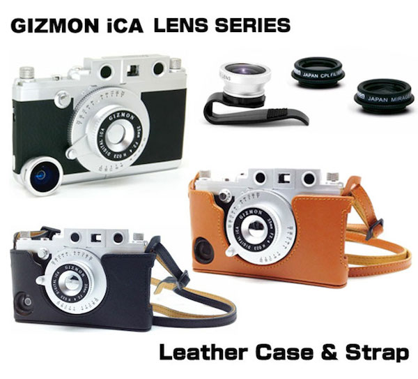 GIZMON LENS SERIESおよびGIZMON iCA Leather Case & Strapを発売しました。