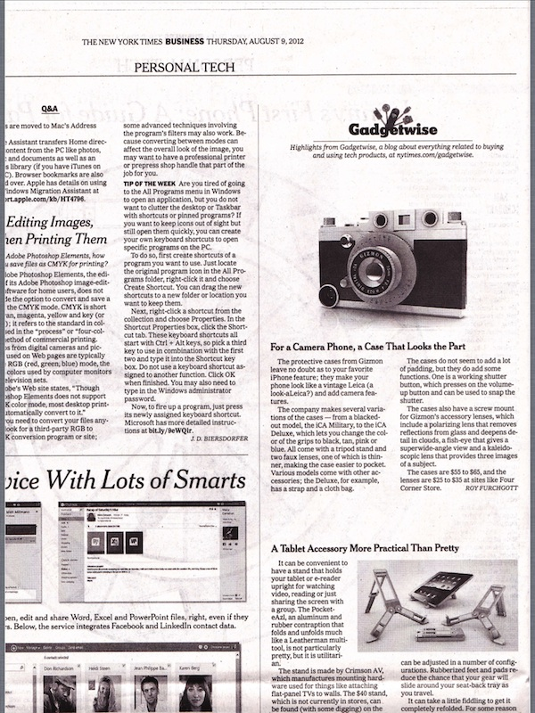 """The New York Times"" published an article about GIZMON iCA"