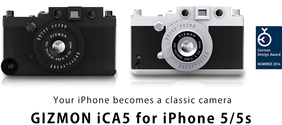Your iPhone becomes a classic camera Gizmon iCA5 for iPhone 5/5s
