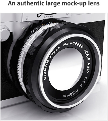 An authentic large mock-up lens